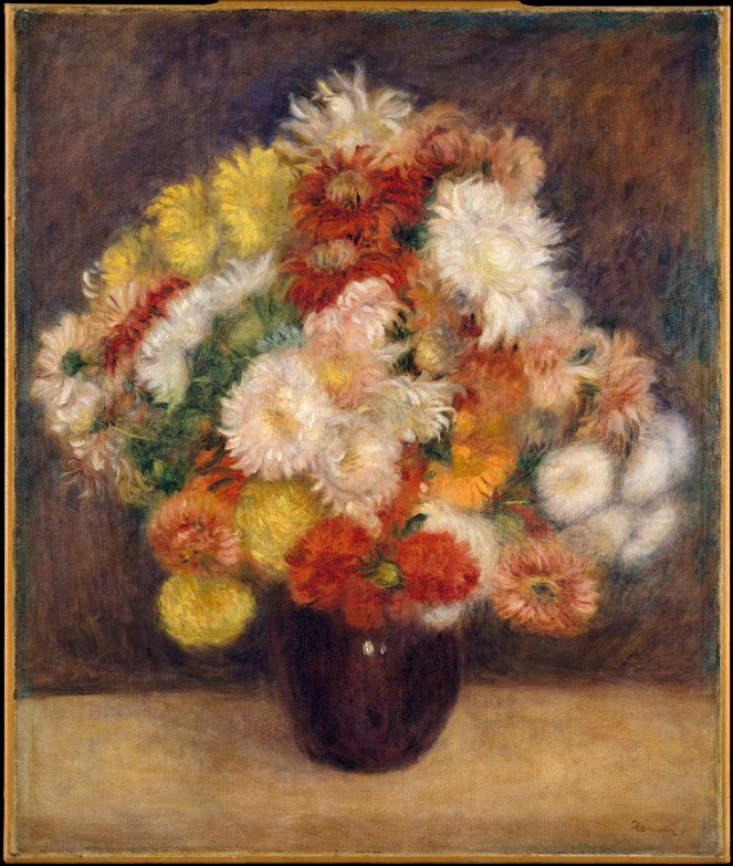 Bouquet of Chrysanthemums by Auguste Renoir