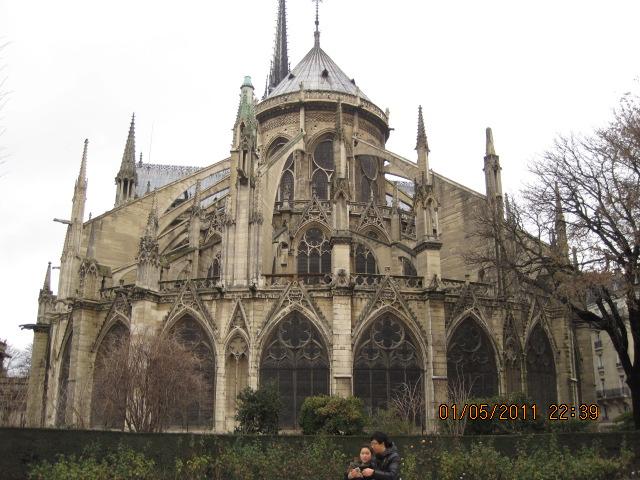 Notre Dame de Paris flying buttresses