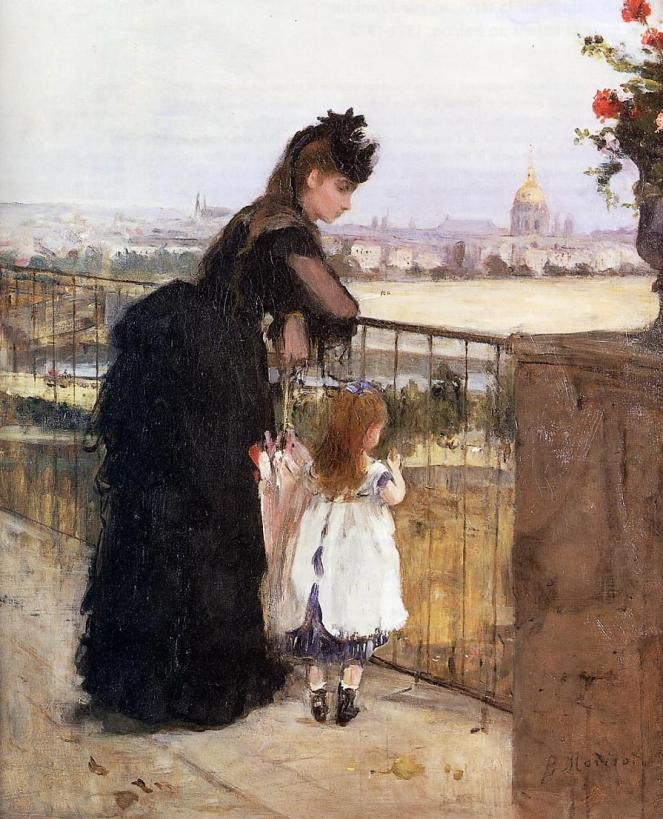 Woman and Child on a Balcony by Berthe Morisot