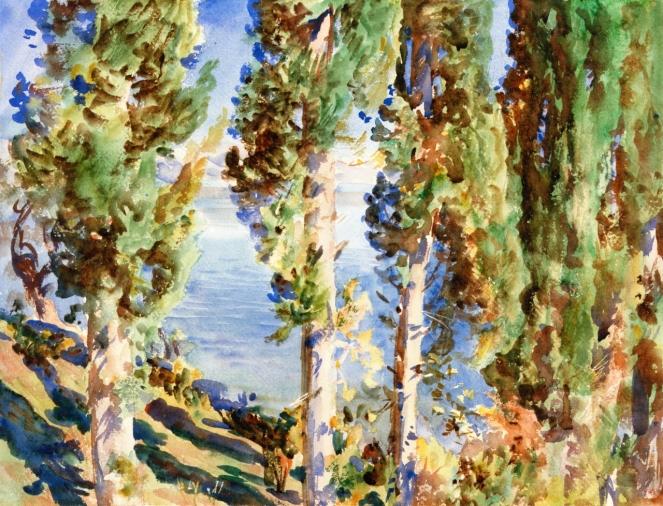 Corfu: Cypresses by John Singer Sargent