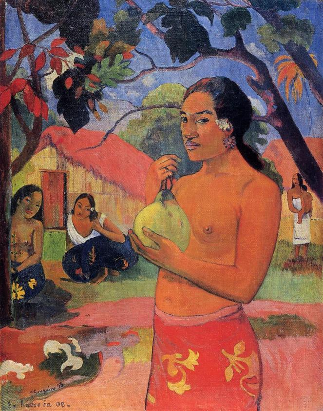 Ea haere la oe? by Paul Gauguin