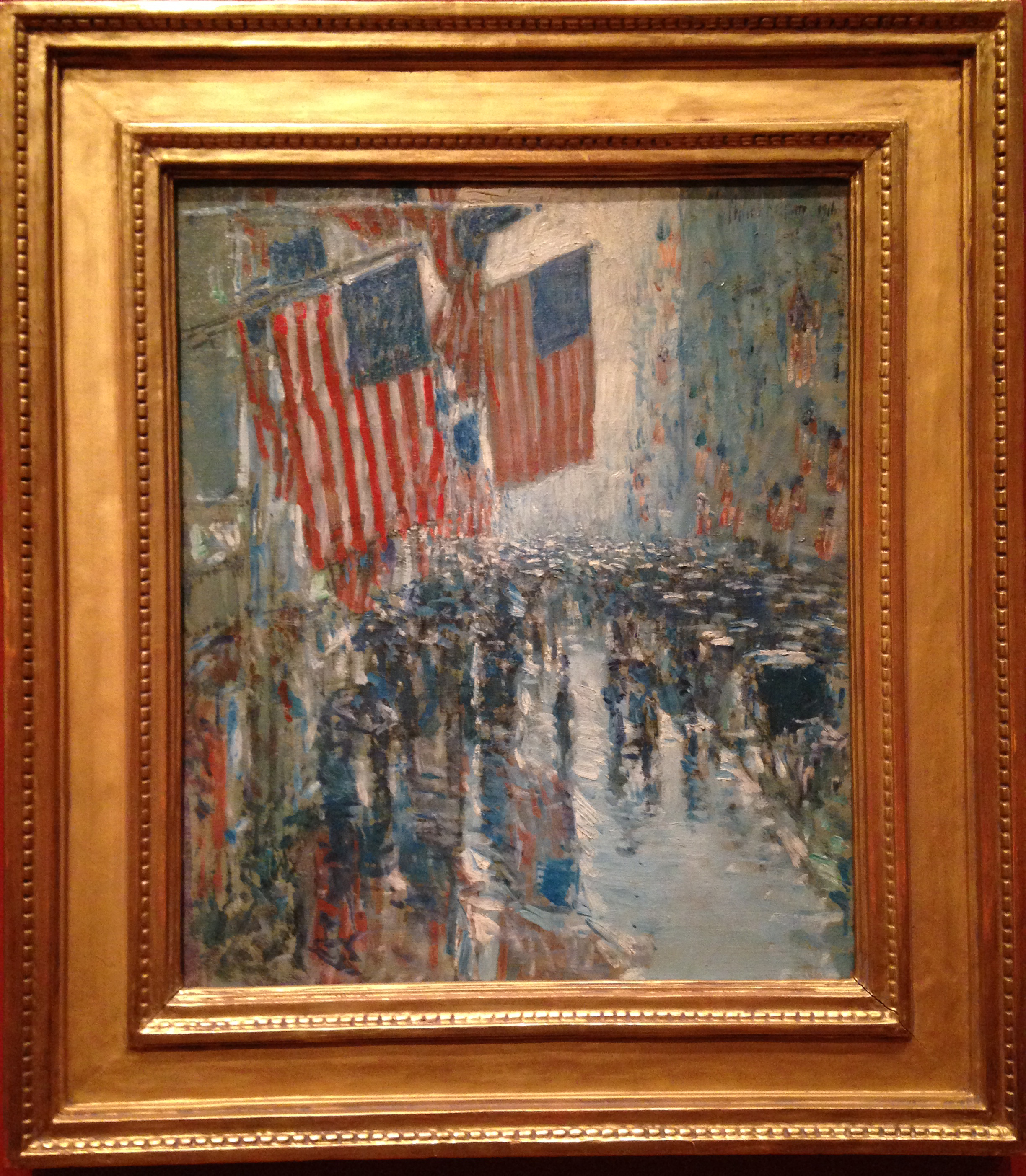 Rainy Day, Fifth Avenue by Childe Hassam