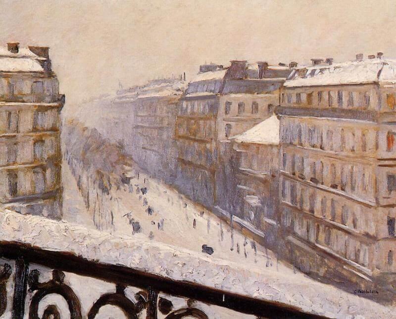 Boulevard Haussmann by Gustave Caillebotte