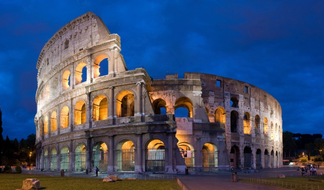 Colosseum in Roman Classical Roman Architecture