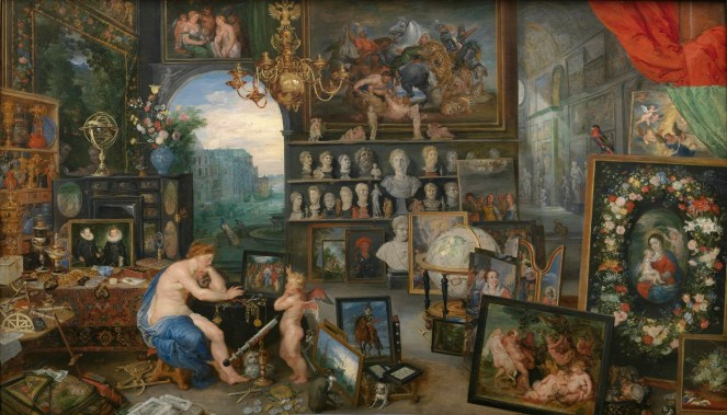 Allegory of Sight looking at artwork