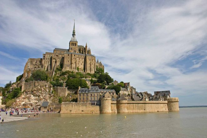 Mont_Saint-Michel in August 2015 guide to Romanesque architecture