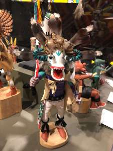 White Ogre Katsina Doll Montclair Art Museum