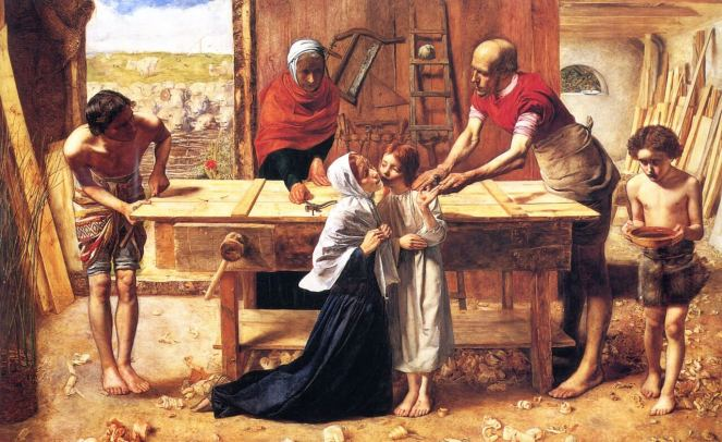 Christ in the House of His Parents by John Everett Millais Pre-Raphaelite Painting