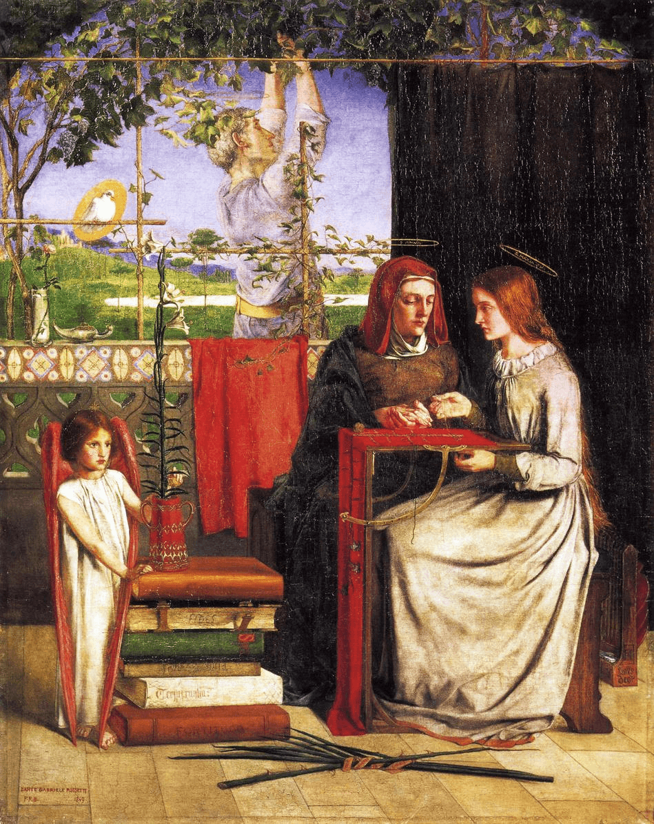 The Girlhood of Mary Virgin by Dante Gabriel Rossetti