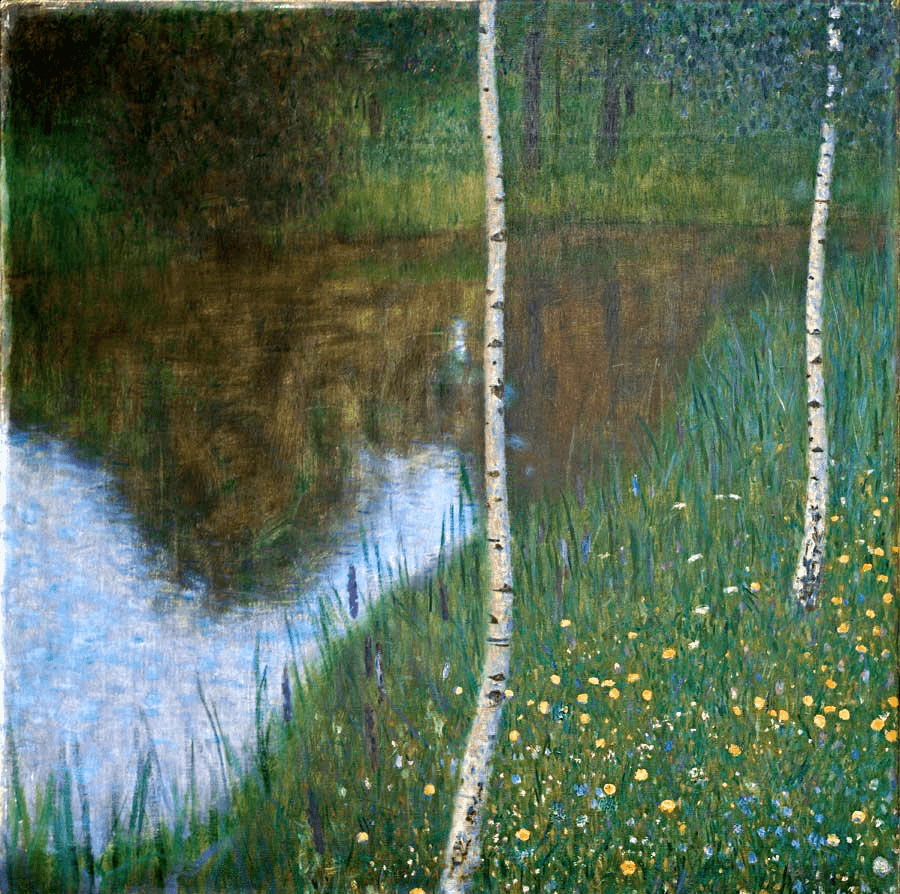 Lakeside with Birch Trees by Gustav Klimt