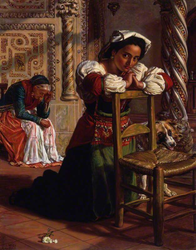 Past and Present by William Holman Hunt Pre-Raephaelites