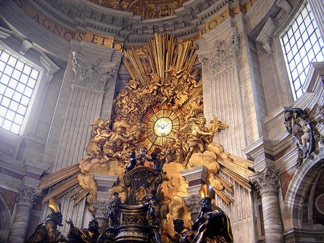 Cathedra Petri by Gianlorenzo Bernini gesamtkunstwerk