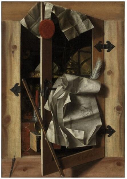 Franciscus Gysbrechts Trompe l'Oeil Still Life