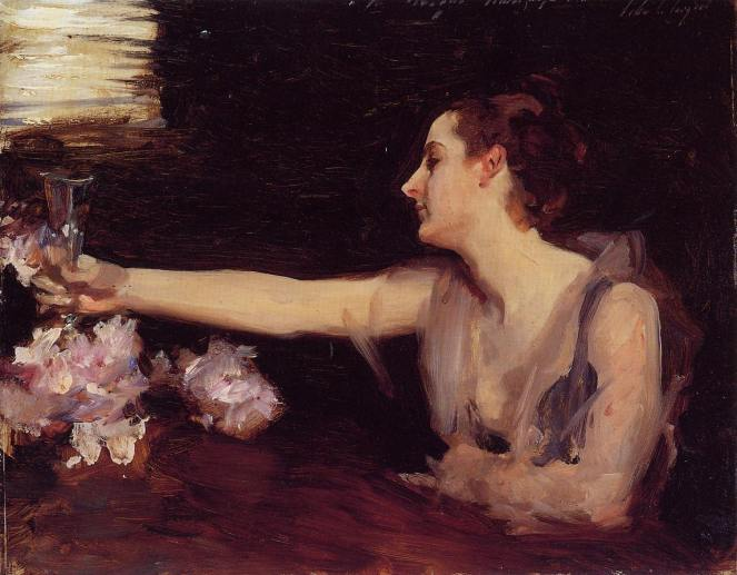 Madame Gautreau Drinking a Toast by John Singer Sargent