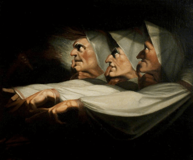 The Weird Sisters by Johann Fuseli