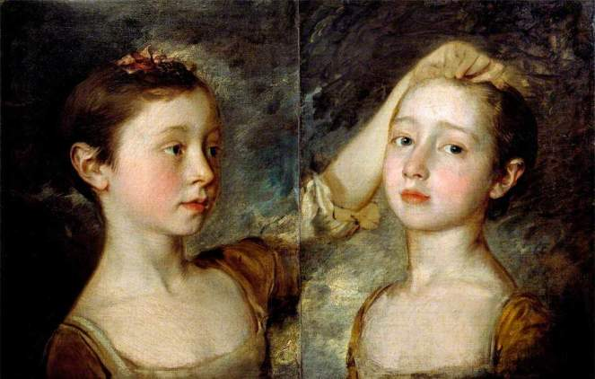 Portrait of the Artist's Two Daughters c.1758 Thomas Gainsborough