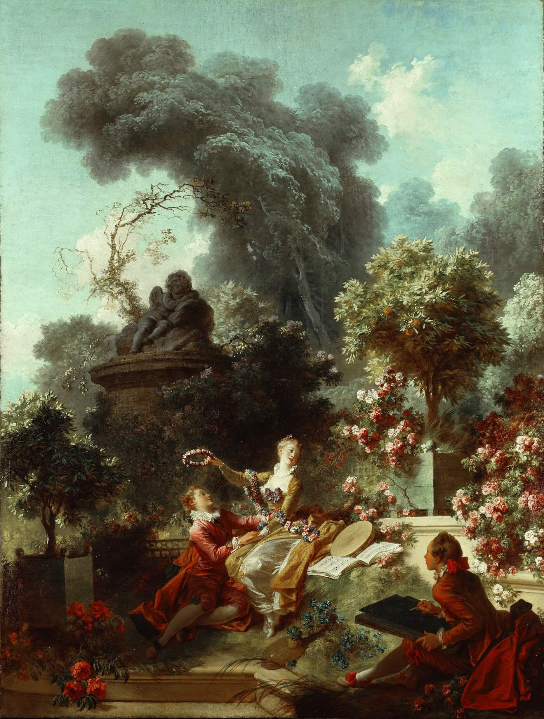 Fragonard Progress of Love Frick Collection