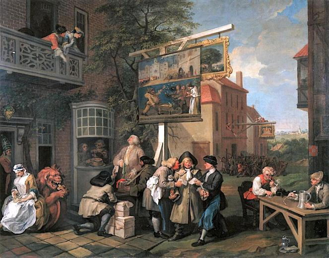 The Election by Hogarth what is a genre painting