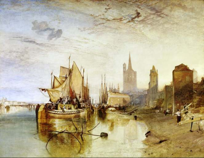 Turner Cologne the Arrival of a Packet-Boat Evening