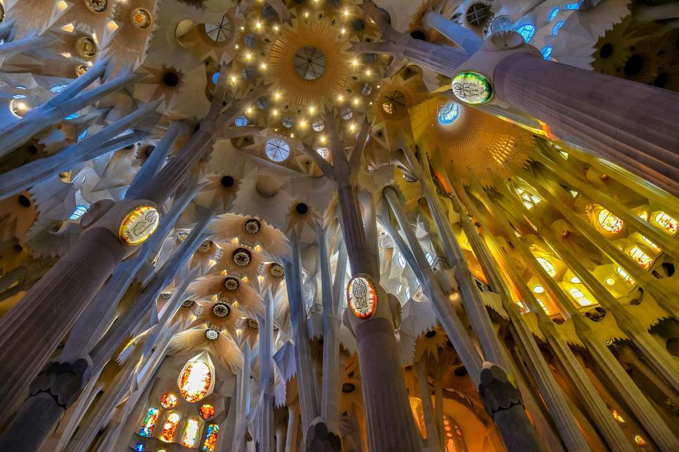 How to Enjoy Architecture from the Comfort of Your Home Sagrada Familia vaults