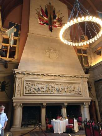 Biltmore Banquet Hall fireplace