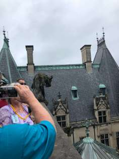 During the rooftop tour, we got to see some of the grotesques up close.