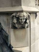 An angel-like figure on the roof.