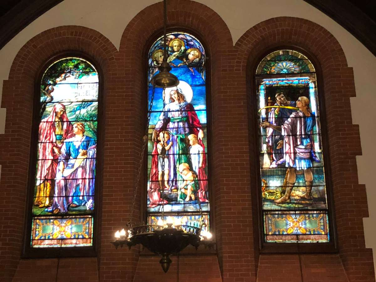 Stained Glass at All Souls Church in Biltmore Village