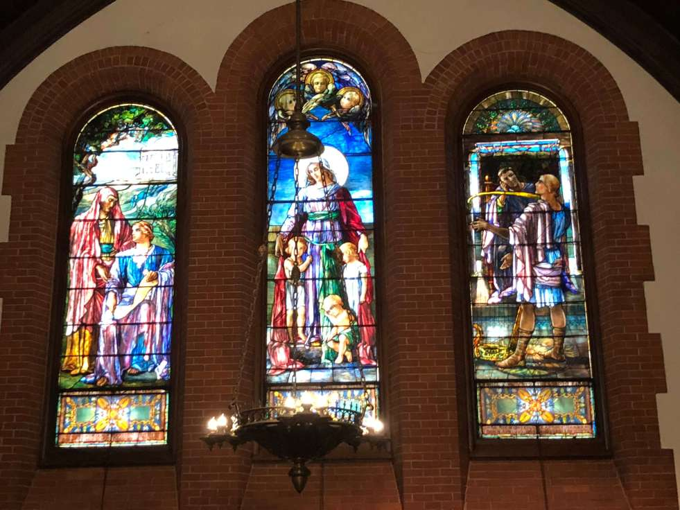 All Souls stained glass Biltmore Village