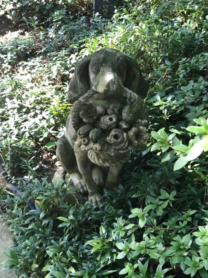 Hillwood dog statue