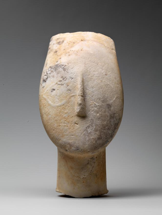 Cycladic figurines head Met