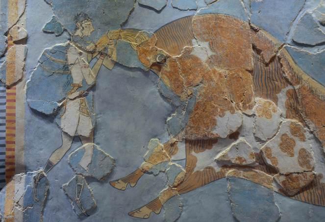 Minoan Bull Leaping Fresco landing