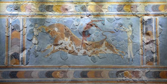Minoan Bull Leaping Fresco
