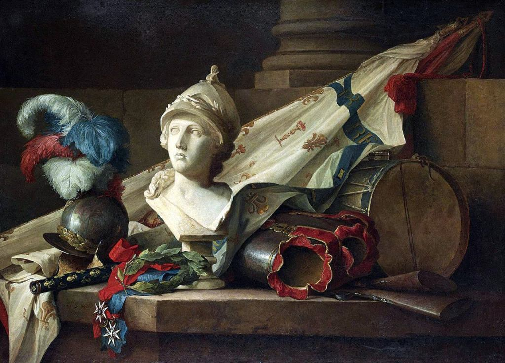 Bust of Minerva with Armour and Weapons by Anne Vallayer-Coster