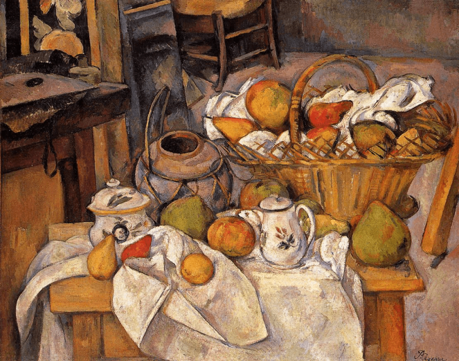 Still Life The Kitchen Table by Paul Cezanne