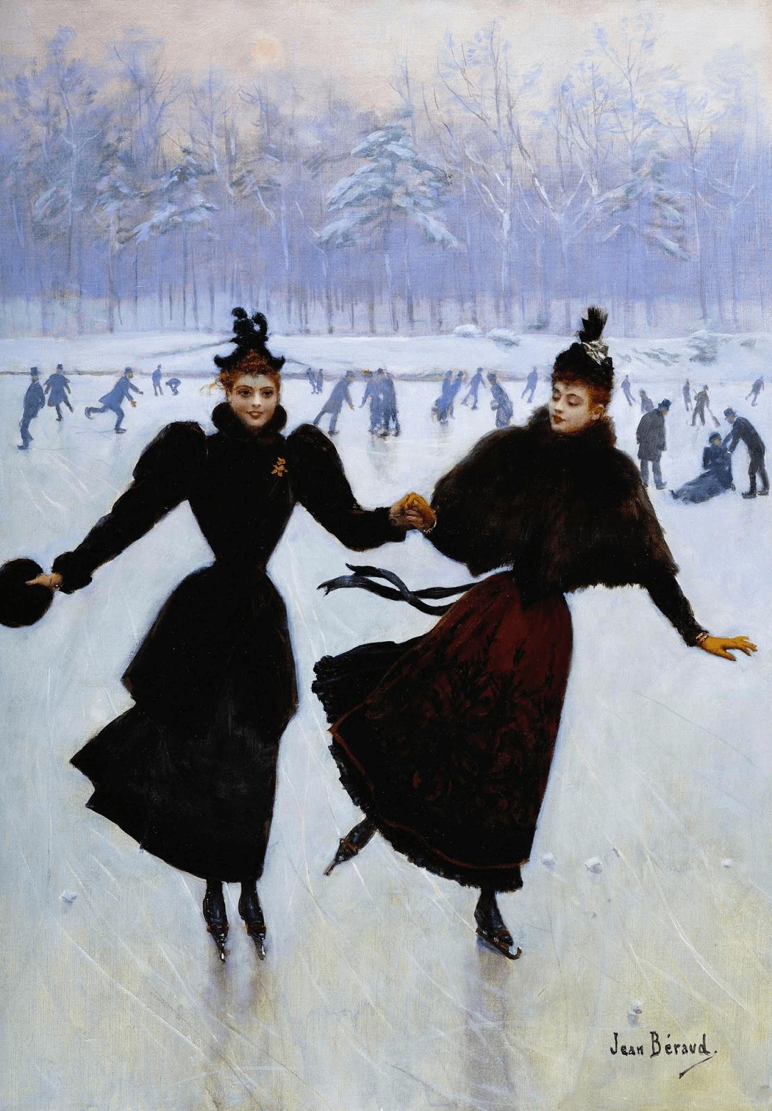 Women Skating by Jean-Georges Beraud