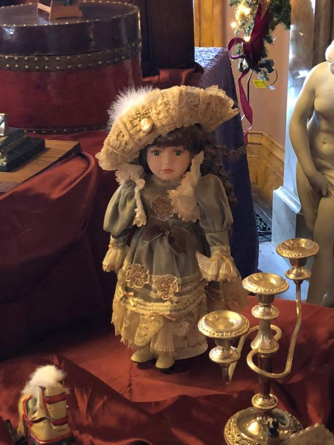 Lyndhurst at Christmas antique doll