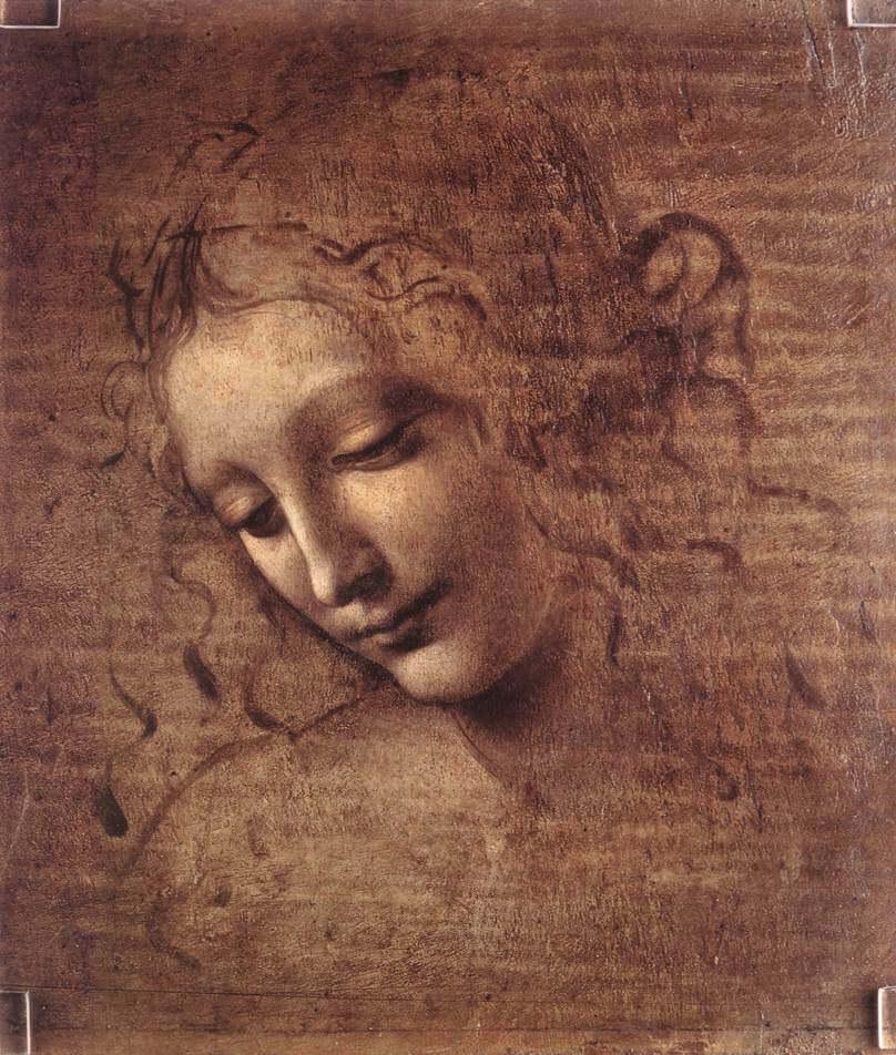 Leonardo da Vinci - Female head (La Scapigliata)