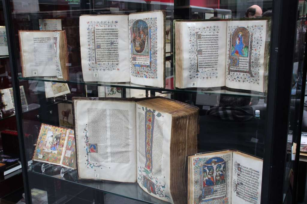 Illuminated manuscripts on display