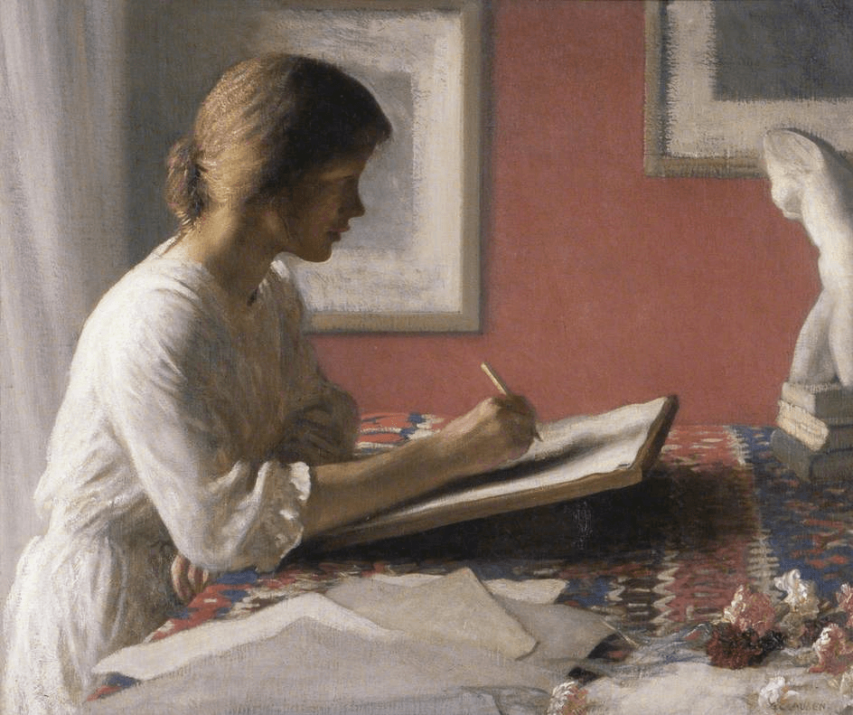 The Student by Sir George Clausen art history exams