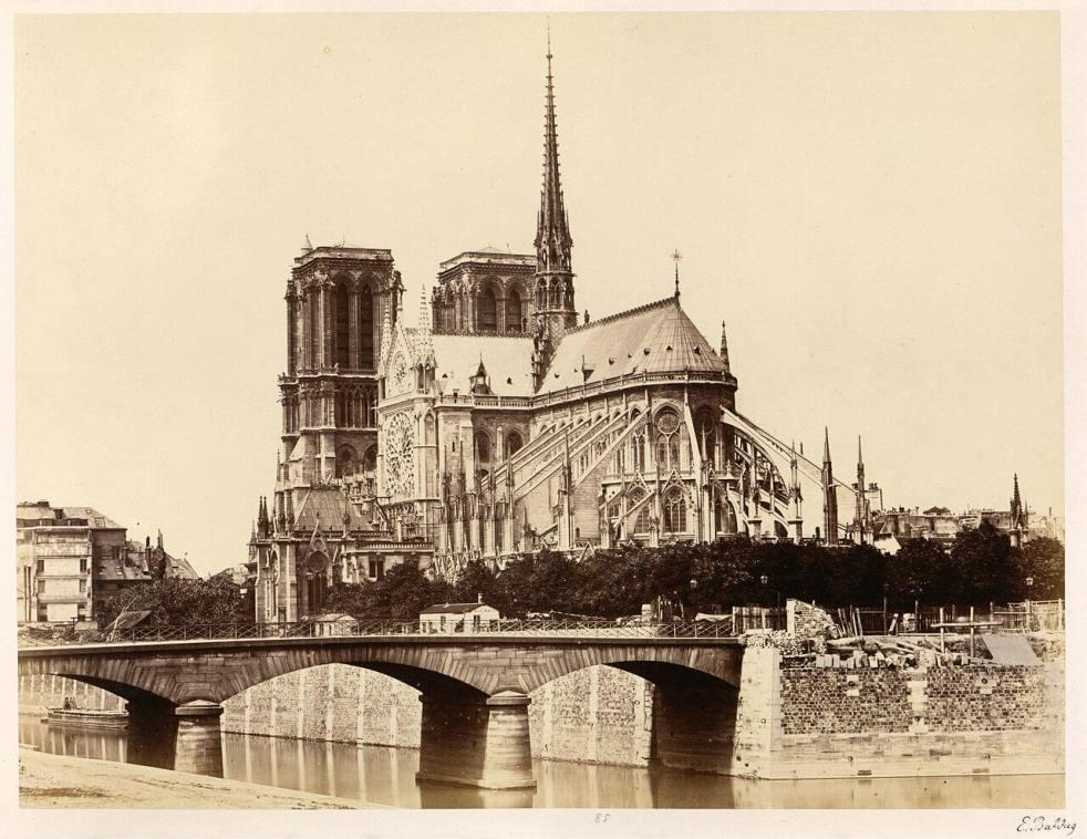 Édouard Baldus Notre-Dame (Abside),1860s