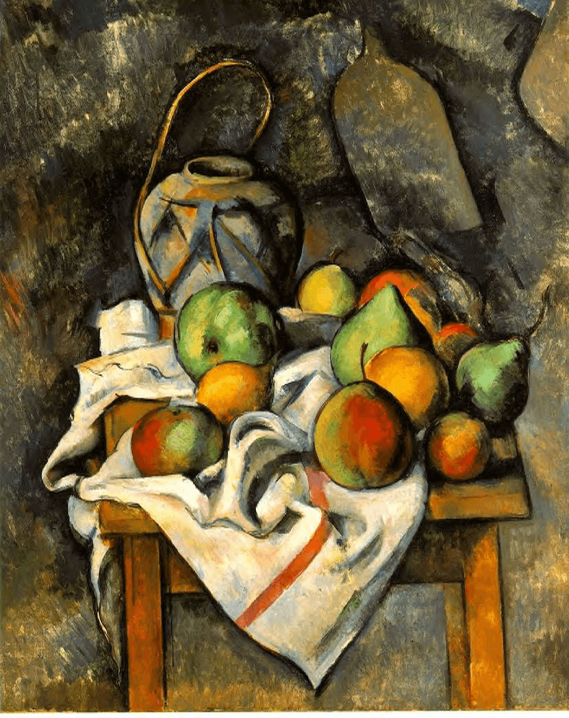 Ginger Jar and Fruit by Paul Cézanne