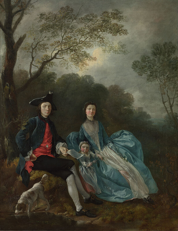 Thomas Gainsborough Portrait of the Artist with his Wife and Daughter