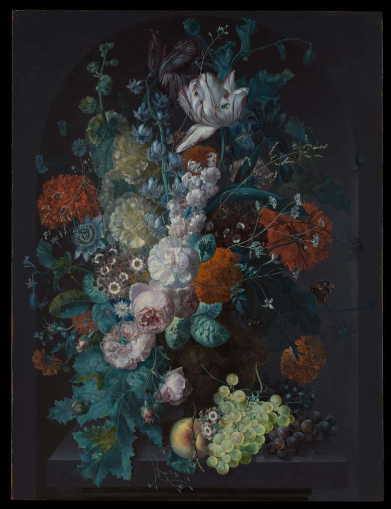 A Vase of Flowers by Margareta Haverman Dutch Golden Age