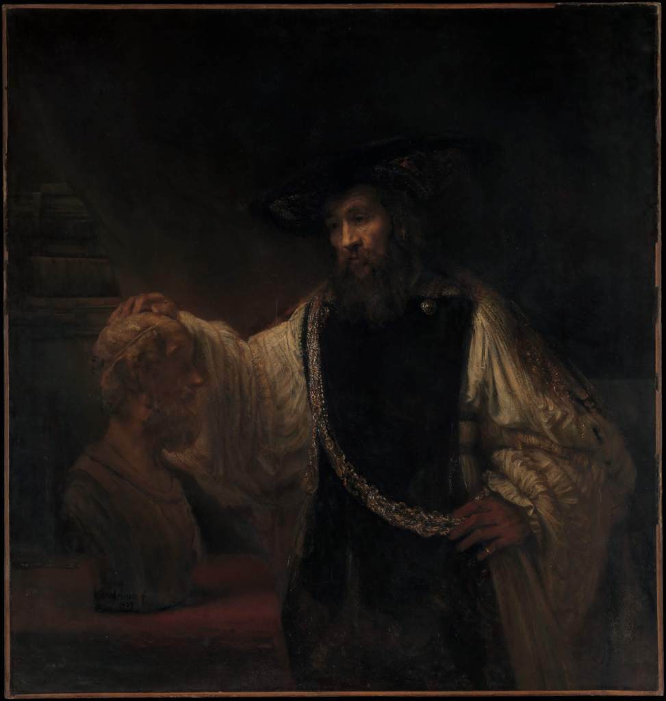 Aristotle with a Bust of Homer by Rembrandt Dutch Golden Age