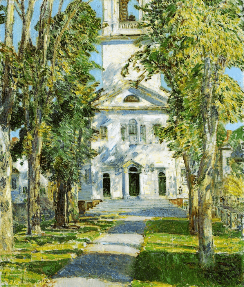 The Church at Gloucester by Childe Hassam