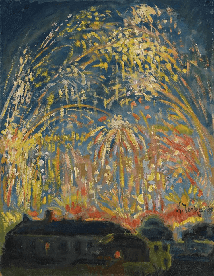 Fireworks in Nice by Nicolas Tarkhoff