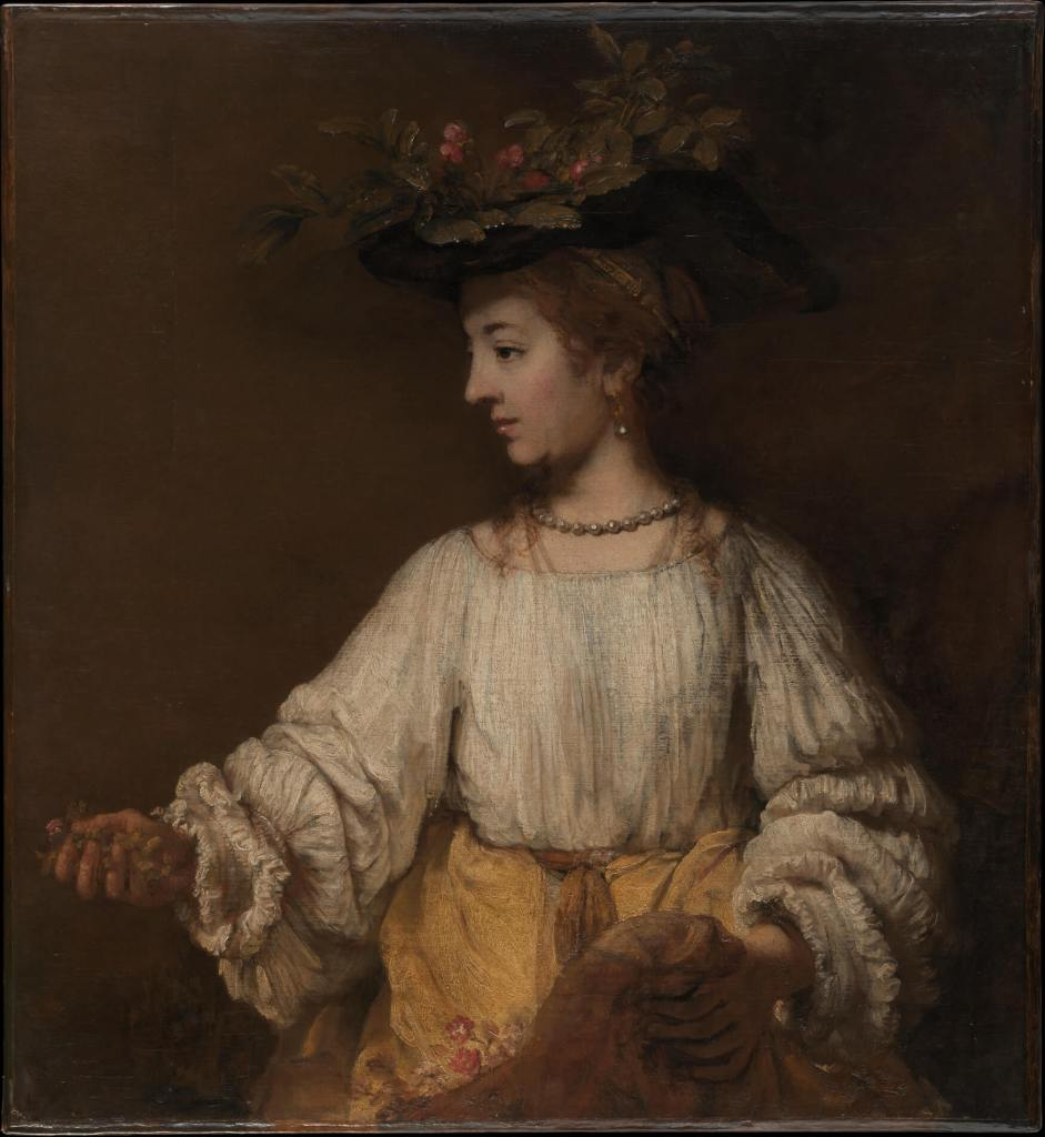 Flora by Rembrandt Dutch Golden Age