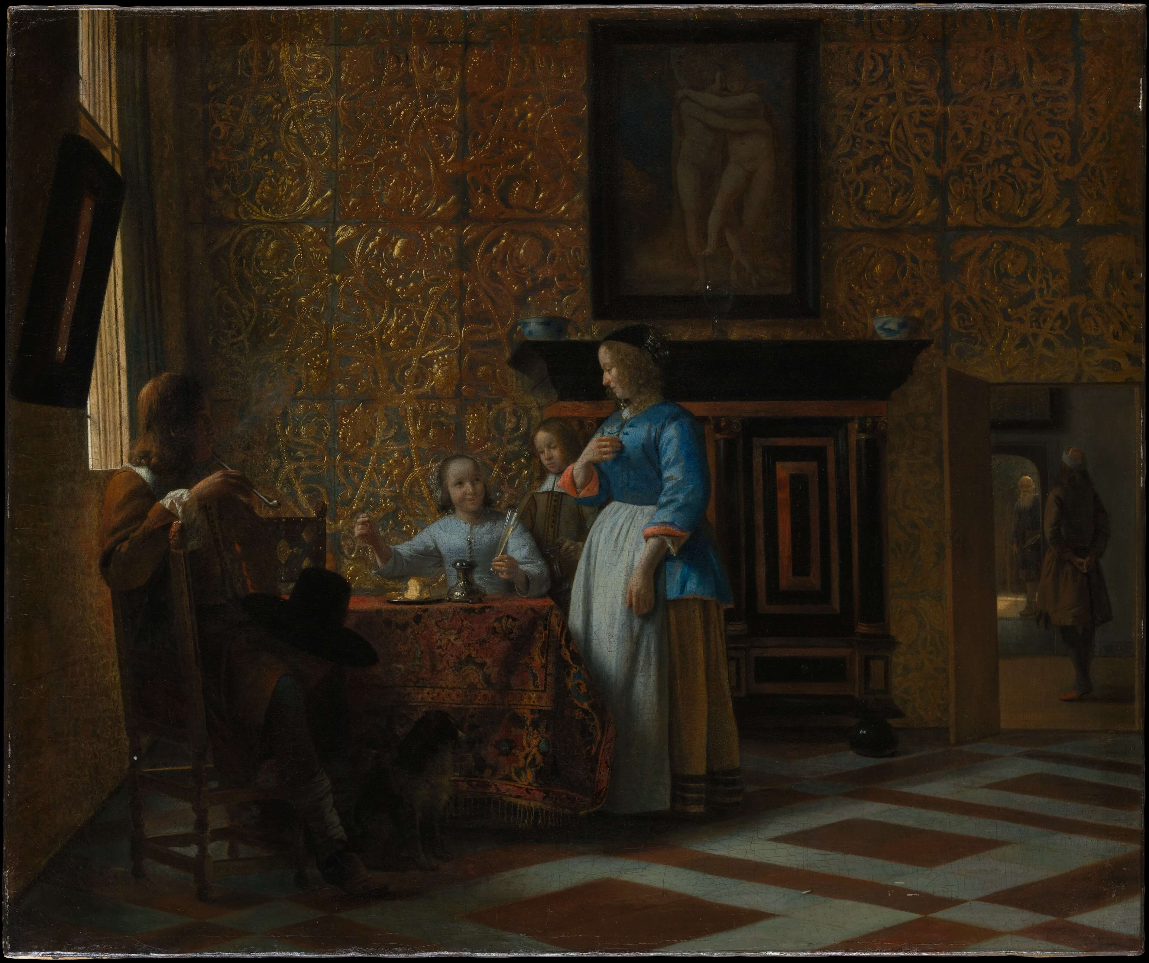Leisure Time in an Elegant Setting by Pieter de Hooch Dutch Golden Age