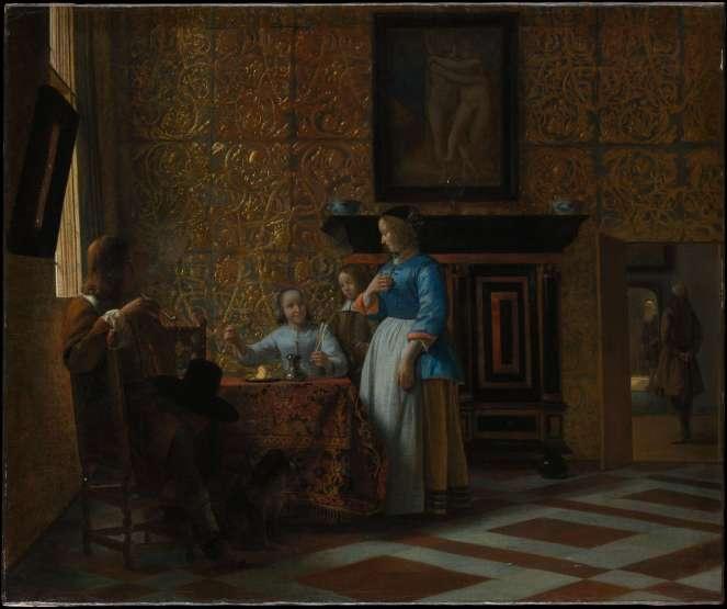 Leisure Time in an Elegant Setting by Pieter de Hooch Dutch Golden Age